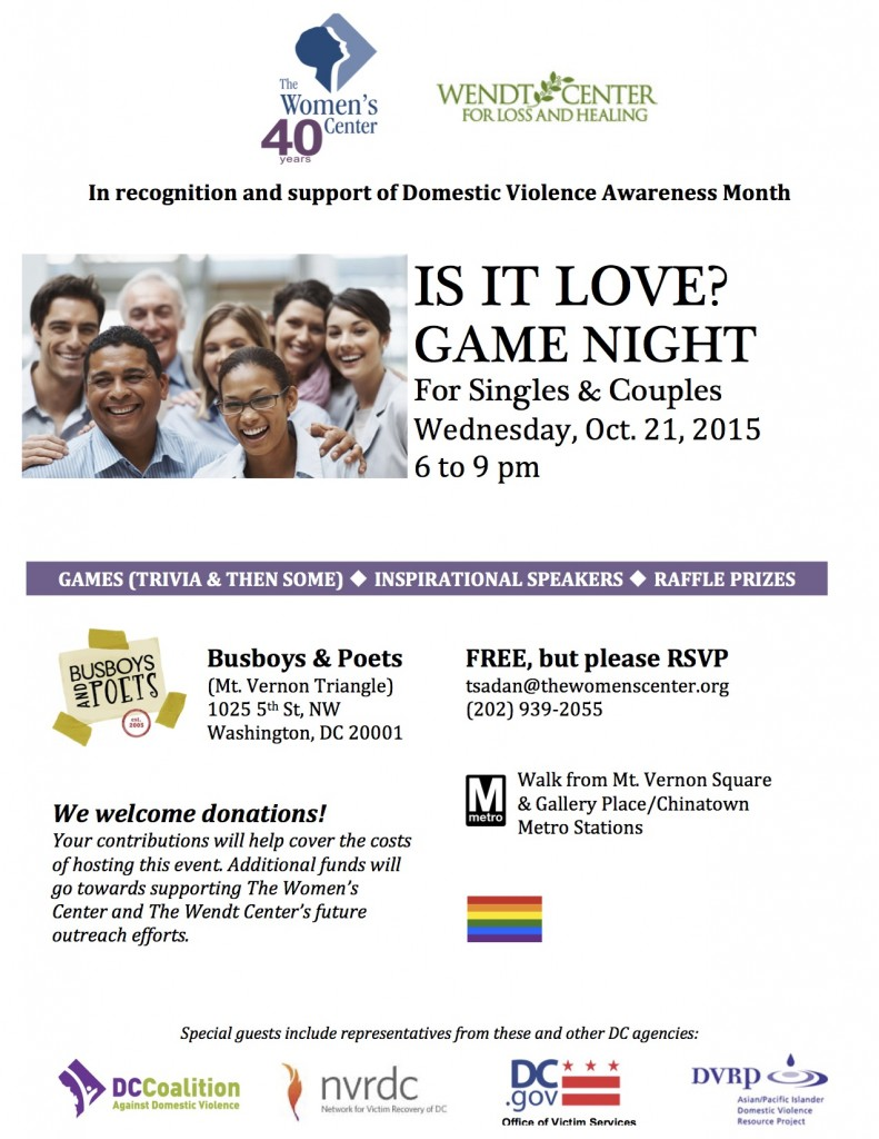 Flyer Is It Love Game Night 10-21-2015(1)
